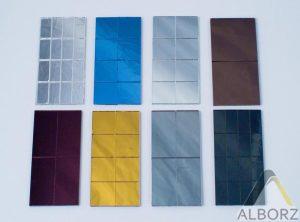 رنگ های موجور پلکسی آینه ای- طلق البرز