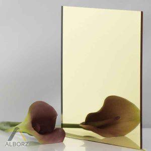 پلکسی گلاس آینه ای طلایی- طلق البرز