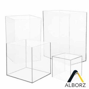 جعبه پلکسی شفاف - اندازه سفارشی