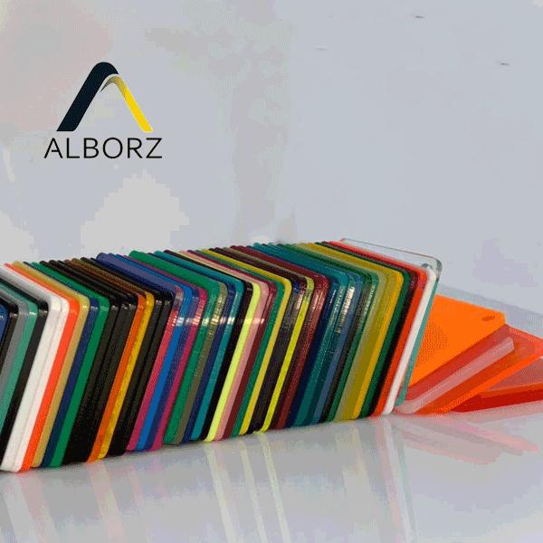 تنوع رنگی ورق پلکسی گلاس